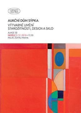 Katalog výtvárné umění, starožitnosti, design a sklo - 50.aukce